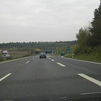 Anfahrt von Roth zur Auffahrt A6 Richtung Schwabach, Geschwindigkeitstrichter 100-80-80-60