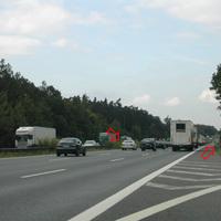 Anfahrtsansicht Richtung Berlin, Meßstelle auf Höhe von Parkplatz