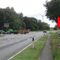 Links gehts nach Oldenburg, geradeaus nach Elsfleth / Brake.