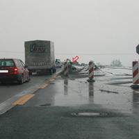 Anfahrtsansicht beim Auffahren auf die A10