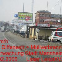 Richtung Müllverbrennung Überwachung Stadt Mannheim