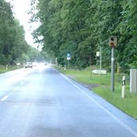 """Man sollte das Schild """"Karnkenhausausfahrt"""" etliche hundert Meter vorher schon ernstnehmen! Mich hat's hier in tiefster Dunkelheit erwischt......"""
