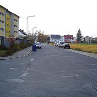 Anfahrtsansicht   ...links ist die Einmündung Lichtenfelser Strasse zu sehen.