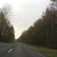 Anfahrt Richtung Himmelkron: ganz rechts sieht man leicht einen weißen Bus... vor Ort konnte man hier schon leicht den Blitzer sehen, der am Anfang der Leitplanke aufgestllt war