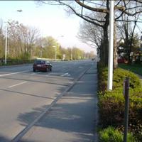 Ansicht der Messstelle in Richtung Berliner Allee, erlaubt sind hier 50 km/h