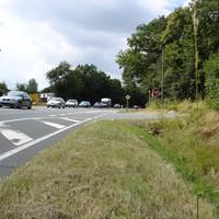 Gemessen wird hier in beiden Richtungen in einem kurzen Teilstück, in dem nur 70 statt 100 km/h erlaubt sind.