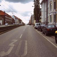 Anfahrt. Mal wieder eine andere (von vielen) Stellen in der Lübecker Straße.