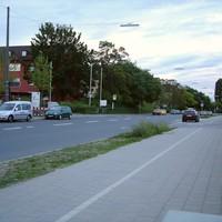 Blick in Fahrtrichtung Schwabacher Strasse...