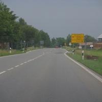 B32 Fahrtrichtung Herbertingen an der Abfahrt Ennetach
