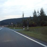Messpunkt direkt an der Ausfahrt Langenzenn.