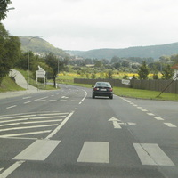 Hier fährt man in Richtung Naumburg weiter erlaubt sind 50 km/h