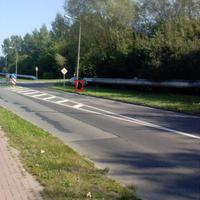 """Diese Messstelle befindet sich in der Koitenhäger Landstraße, am südlichen Rand von Schönwalde II, auf der Einmündung """"Ernteweg"""""""