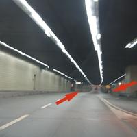 Anfahrt: Die Messung wird in der Mitte des Citytunnels auf der Höhe des Ladehofes (Ampel) durchgeführt.