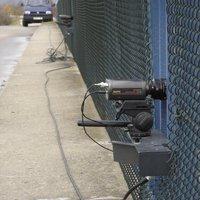 Die Kameras für die Fernerfassung und Messung; Autobahnbrücke für landwirtschaftlichen Verkehr