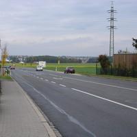 Besonders auffällige Messtelle am Ortsausgang von Cadolzburg in Richtung Seukendorf.