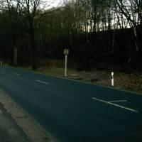 Blitzer steht rechts nach einer leichten,langgezogenen Rechtskurve und mißt die erlaubten 50km/h nur ortsausgehend Richtung Wernersgrün