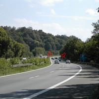 Anfahrt, Meßstelle nach 100 km/h-Schild