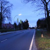 Anfahrtsansicht: Morgens um 06:30 Uhr kurz nach dem Orteingang von Altenoythe aus Friesoythe kommend
