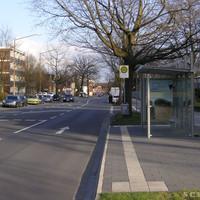 Anfahrtsansicht: Direkt nach der Einfahrt zur Polizeischule
