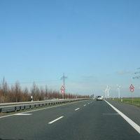Anfahrtsansicht Die Beamten stehen direkt am Ende der Ortsumgehung Weißenfels in Richtung Mersenurg.