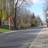 Anfahrtsansicht . Die Anlage ist neu in Betrieb und drehbar. B45 in Rtg HD links am OA Zuzenhausen.