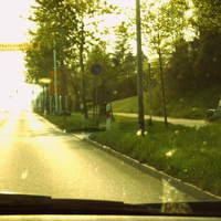 Dank Radiomeldung gibt es wenigstens diese 2 Bilder ... Ortsausgang von Anklam in Richtung B 96.