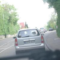 Hier fährt der Wagen gerade von seinem Messpunkt(Schloßstr) in Richtung Bahnhof