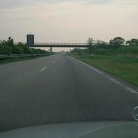 B437 Ansicht vom Wesertunnel aus kommend Richtung Kleinensiel