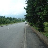 Anfahrtsansicht Richtung Wertheim. Kaum Fußgänger und gut ausgebaute Strasse mit ziemlich geradem Verlauf. Hier wird abgezockt !