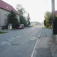 Blick aus der Gegenrichtung. gemessen wurde aus Rtg. Autobahn kommend (Behelfsausfahrt).