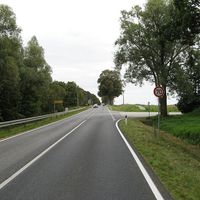 Anfahrt - etwa für 300m gelten hier 70km/h.