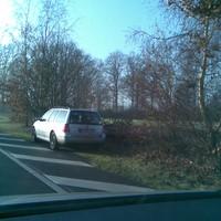Silberner VW Golf  Variant    ,MS-MZ 134. Hat in beide Richtungen gemessen.
