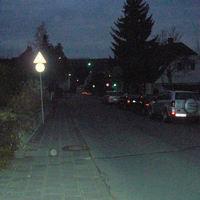Leider war es schon sehr dunkel, da spielt meine Kamera nicht mehr so gut mit -  Am Gefälle macht das Blitzen doch etwas mehr Spaß...