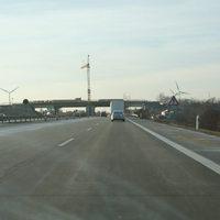 Anfahrt auf die Brückenbaustelle