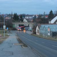 Ansicht auf Höhe des Ortseingangsschildes von Siegelsdorf.