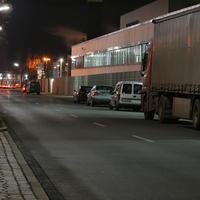 """Die Abendmessung so ca. ab 17:40 Uhr, allerdings mit recht geringer """"Ausbeute"""", da die Autos durch den pakenden LKW größtenteils abgebremst haben."""