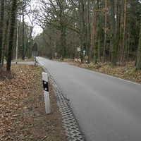 Anfahrtsansich aus Richtung Spardorf kommend, die Kamera für die auswärtig fahrenden Fahrzeuge war hinten nicht verschlossen.
