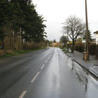 Anfahrt Rtg. Umgehungsstraße. Die Messstelle wird sonst ausschließlich von der PI Schwerin genutzt. Deshalb sucht man rechts - heute vergebens - nach Messtechnik.