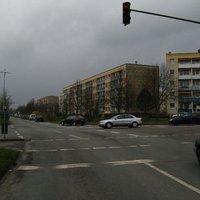Anfahrt ... Man überquert die Kreuzung mit der Lomonossowstraße ...
