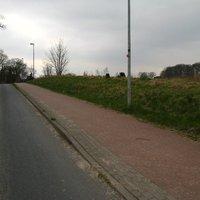 Ansicht Richtung Stadt. Die kleinen 'Hückel' rechts waren kaum zu sehen ...