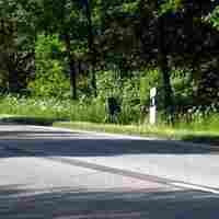 Ansicht Richtung Schwerin. Die Lichtschranke befindet sich etwa 50 m weit auf Ludwigsluster Kreisgebiet.