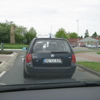 Radarwagen des Kreis Steinfurt. Steht im ganzen Kreis. Kann in beide Richtungen messen.