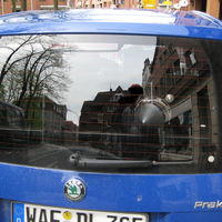 Radarwagen des Kreis Warendorf. Steht im ganzen Kreis. Hat den alten Opel Astra ( weiß ) abgelöst.