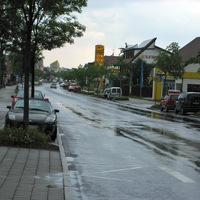 Ich kam etwas später als Mahagon an und es regnete fürchterlich.