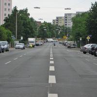 Anfahrtsansicht. Diesmal wurde nicht am üblichen Messplatz in der Espanstraße kontrolliert, sondern ungefähr 200 Meter vor der Kreuzung zur Poppenreuther Straße