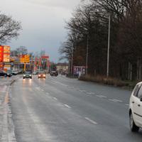 """Der """"übliche"""" Messpunkt auf der Regensburger Strasse   ...gegenüber von den Tankstellen in stadteinwärtiger Richtung."""