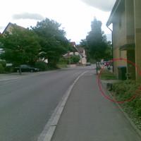Blick in Fahrtrichtung Reutlingen