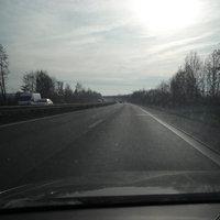 Anfahrt. Dann ging mein Akku mitten auf der Autobahn flöten.
