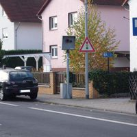 Starenkasten in Rödermark Ober Roden, Nieder-Röder-Str. in Höhe Hausnummer 16-18. Stadteinwärts aus Rodgau Rollwald kommend
