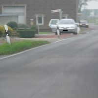 Anfahrt von Boisheim. Beamter machte noch die Feineinstellung. Schade, schlechte Bilder.